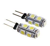 G4 1.5W 9x5050SMD 140-170LM 6000K White Light LED Bulb (12V 2PCS)