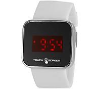 touchscreen uomini LED Digital del silicone bianco orologio da polso band