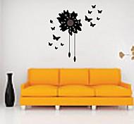 zooyoo® molte farfalle batteria elettronica parete cronometrista parete orologio dell'autoadesivo decorazione della casa per voi soggiorno