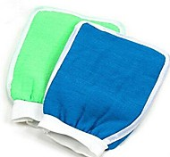 hidratación de agua de la bañera de hidromasaje fregar guantes exfoliantes baño para la ducha (color al azar)