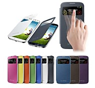 Smart View Screen Touch PU Leather Case for Samsung S4 9500 (Assorted Colors)