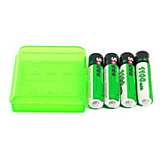 4pcs batería recargable 1.2v 1100mah Soshine aaa ni-mh + caja