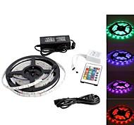waterdichte 5m 150x5050 SMD RGB led strip licht lamp met een 24-toets afstandsbediening set (12v)