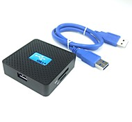 Square Shaped All-in-1 SuperSpeed USB 3.0 Memory Card Reader Supports SD/TF/CF/M2/MS/XD