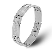 Men's Fashion Personality Titanium Steel The Great Wall Pattern Bracelets
