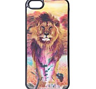 Cool Change Freely Lion and Tiger Style 3D Graphic Protective Plastic Hard Case for iPhone 5/5S
