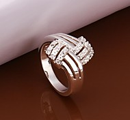 Personality Fashion High Quality Copper Plating Ms 925 Silver Set Auger Ring