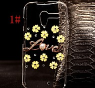DIY Multi-color Flowers with Rhinestones Pattern Plastic Hard Case for Motorola MOTO X  (Assorted Color)