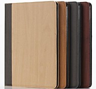 Fashion Wood Pattern Leather Full Body Case with Card Slot and Stand for iPad Air 2(Assorted Colors)