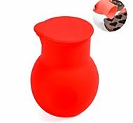 поделки мини горшок шоколад плавления, силиконовый материал, диам. 5.5cm, красный цвет