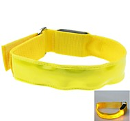 LED Light Color Lattice Arm Band Strap Armband Yellow (2xCR2032)