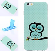 Owl Pattern Silicone Soft Cover for iPhone 6 Plus