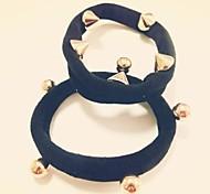 1pcs Simple and Practical Rivet High Elastic Hair Bands
