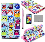 Für Kreditkartenfächer / mit Halterung / Flipbare Hülle / Muster Hülle Handyhülle für das ganze Handy Hülle Eule Hart PU - Leder Samsung