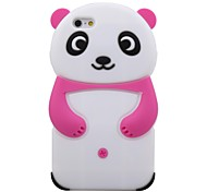 Lovely Cartoon Panda Silicone Soft Case for  iPhone 6 (Assorted Color)