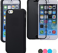 Touch Screen Flip Transparent Full Body Case for iPhone 4/4S (Assorted Color)