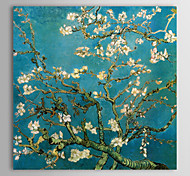 Canvas Print Almond Branches in Bloom San Remyc.1890 by Vincent Van Gogh Paintings