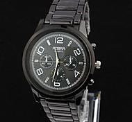 relógios dos homens da moda simples generosa de aço da correia (cores sortidas)