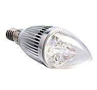 4W E14 Luces LED en Vela 4 LED de Alta Potencia 360 lm Blanco Natural Regulable AC 100-240 V