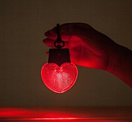 Outdoor Camping Portable Heart Shaped Warning Light With Hanger 12x6.5cm (Red)