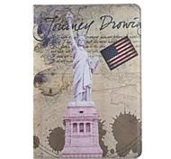 9,7 pouces deux motifs statue pliage de liberté pu étui en cuir pour iPad 2 l'air