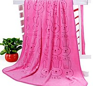 Lovely Rabbit Pattern Bath Towel Quick-drying Towel (Random Color)