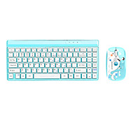 Newmen K10 Wireless 2.4G Chiclet Keys Standard Keyboard + Standard Mouse(1600DPI) Kit