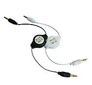 0,75 m 2.46ft 3.5mm mâle à mâle mp3 automobile prolongation audio câble de mise à l'échelle Livraison gratuite