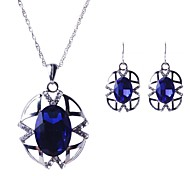 Women's Europe Cut Out Pattern Gem Jewelry Set(Including Necklaces Earrings)