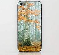 Yellow Maple Pattern hard Case for iPhone 6