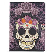 Purple Roses Skulls Pattern PU Leather Full Body Case with Stand for Samsung Tab4 10.1 T530