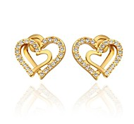 Stud EarringsJewelry Golden Gold Plated Wedding / Party / Daily / Casual