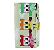 Three Owl Pattern PU Leather Full Body Case with Card Slot and Stand for Motorola X+1