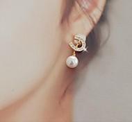 belos brincos de pérola diamante