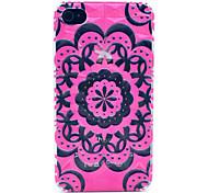 Diamant-Kasten mit Blumen-Muster Hülle für das iPhone 4/4S