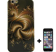 Special Design Pattern Soft TPU with Screen Protector Case Cover for iPhone 6 Plus