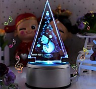 Personalized Gift Snowman  Crystal Mucic Box LIWUYOU™