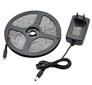 Waterproof 5M 24W 1200m 300x3528 SMD Cool White Light LED Strip Light + EU 2A Adapter (DC 12V)
