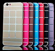 Grid Pattern Business Style Metal Hard Cover Case for iPhone 6(Assorted Colors)