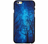 Quite Forest And Night Sky Pattern PC Hard Back Cover Case for iPhone 6 Plus