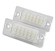 2 pcs White 18 LED 3528 SMD Number License Plate Lights Lamp for VW Passat B5