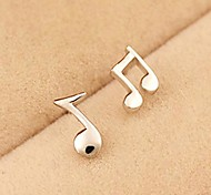 Delicate Sweet Personality Notes Earrings
