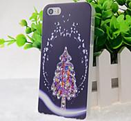 caso difícil superfície de cristal padrão de árvore de natal para o iPhone 5 / 5s