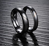 Fashion Love Puzzles Tungsten Steel Couples Ring