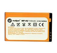 1100mah mallper batterie haute capacité Li-ion pour Nokia BL-4U / E66 / E75 / 3120c / 5530XM / 6600 / 6212c / 5730xm