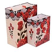Lureme Fashion Red Rose Pattern Gift Bag(Random Color)(1 Pc)
