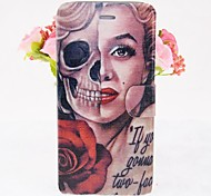 Cool Skulls and Marilyn Pattern Leather Full Body Cases with Stand for iPhone 6