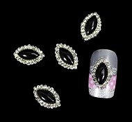 10pcs Black Marquise DIY Alloy Accessories Nail Art Decoration