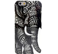 Retro Elephant Pattern TPU Soft Case for  iPhone 6 Plus