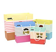 Lureme Fashion Stripe Expression Pattern Gift Bag(Random Color)(1 Pc)